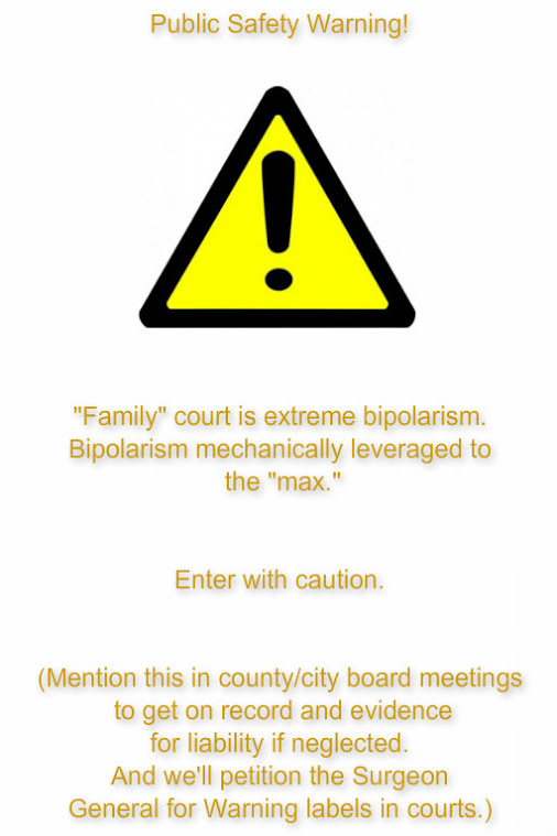 PUBLIC WARNING - FAMILY COURT DESTROYS LIVES --2016