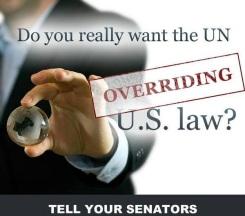 No UN Overide on US Laws - 2015