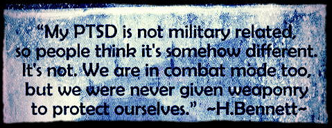 My PTSD is NOT Military Related 2- 2016