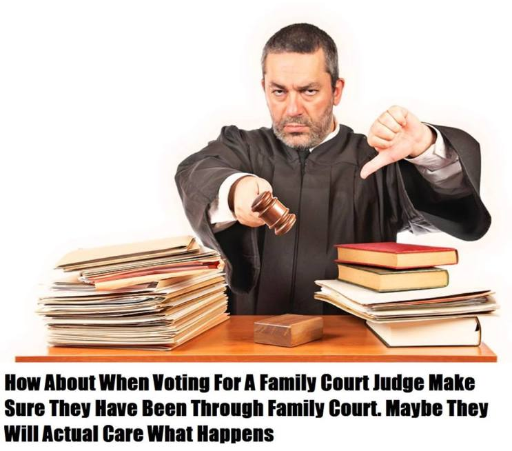 Do not re-elect bad family court judges - 2016