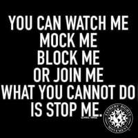 You can not stop me - 2016