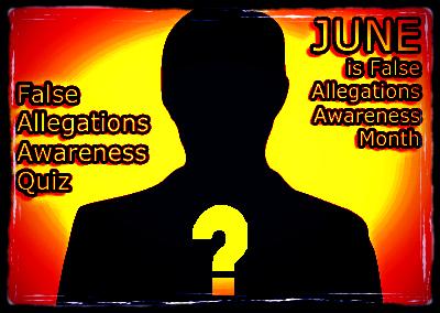 False Allegations of DV Awareness JUNE - 2016